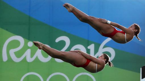 Ingrid y Giovanna, durante su partipación en los Juegos