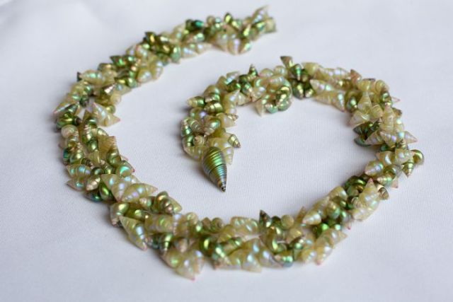 One of Vicki-Laine Green's shell necklace