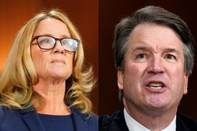 Composite of Brett Kavanaugh and Christine Blasey Ford