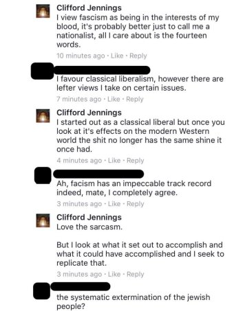Clifford Jennings racist comment 1