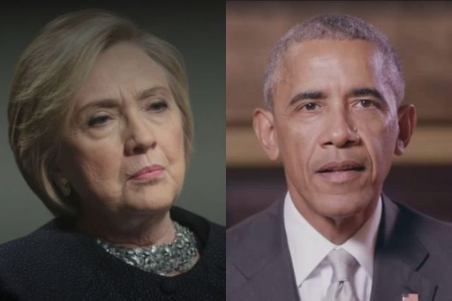 A composite image of Hillary Clinton and Barack Obama
