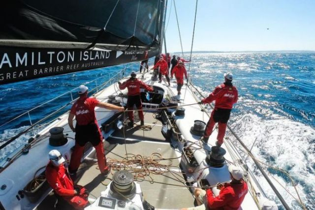 Wild Oats XI on day two of 2018 Sydney to Hobart.