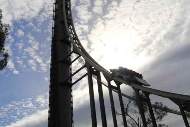 The Tower of Terror ride Dreamworld