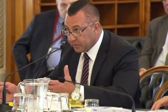 Queensland electoral commissioner Walter van der Merwe speaks during a meeting in Brisbane.