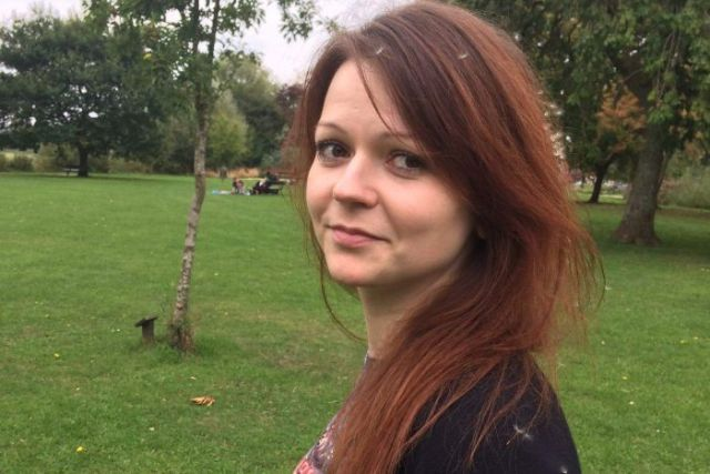 Yulia Skripal in a photo taken from her facebook page.