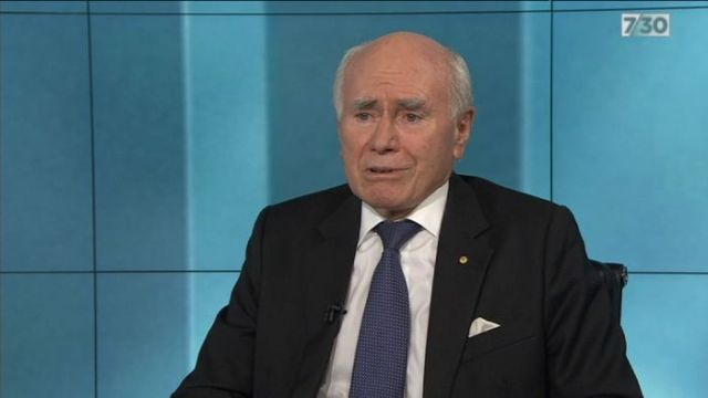 John Howard says he can not see evidence the Liberal Party wants a new leader