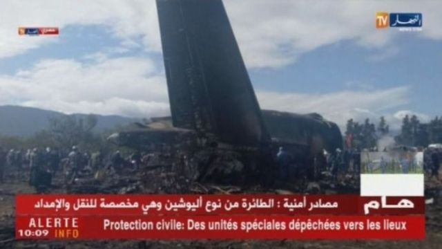 Algerian state radio says at least 100 people have died in a military plane crash