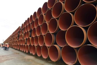 Rows of pipes.