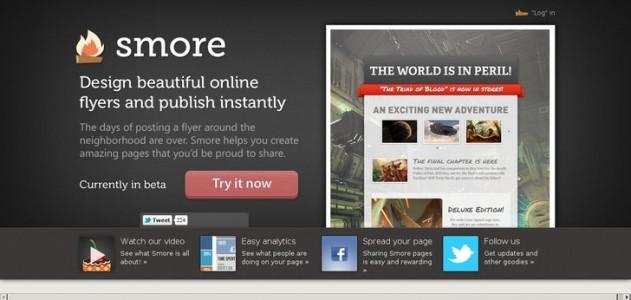 Smore, design online flyers