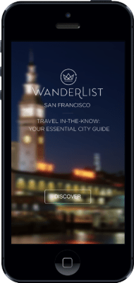 Wanderlist, digital travel app