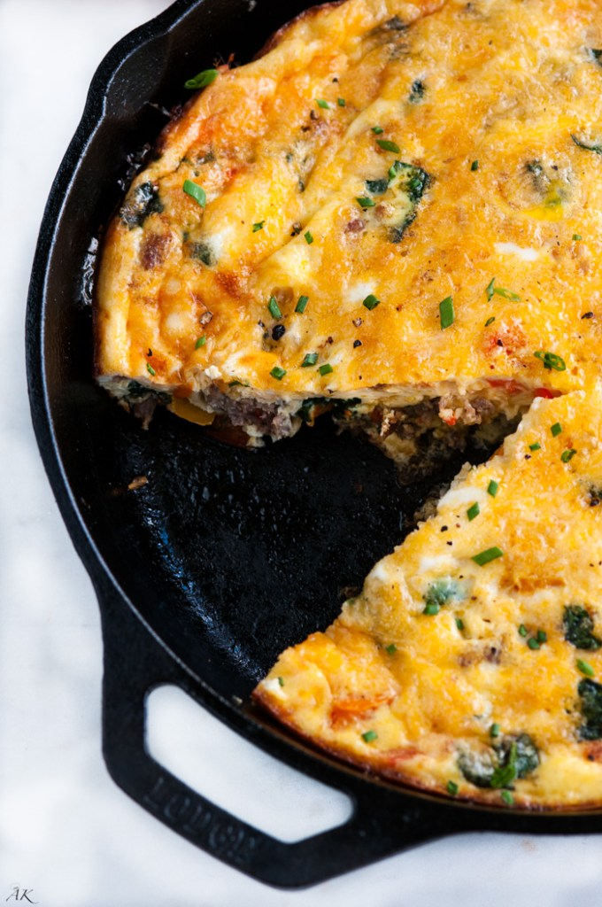 ... , definitely give this Sausage Spinach and Cheese Frittata a try
