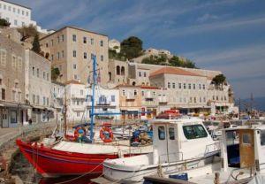 Hydra harbor, Greece