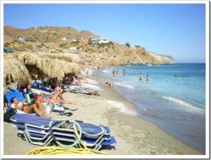 agiakiriaki beach on Milos, Cyclades, Greece