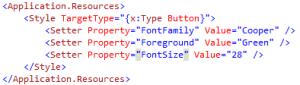 WPF Applying Styles