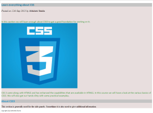 Style By CSS Id