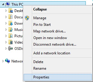 a picture showing how to open computer properties