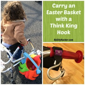 Carry an Easter Basket on a Walker with a Think King hook