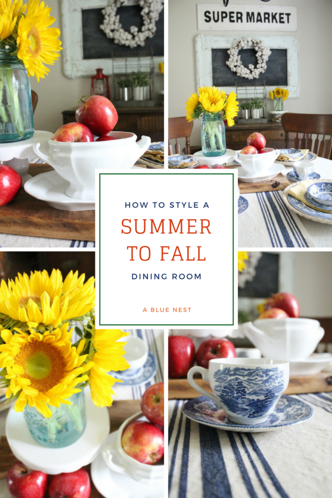 Summer to Fall Dining Room | A Blue Nest