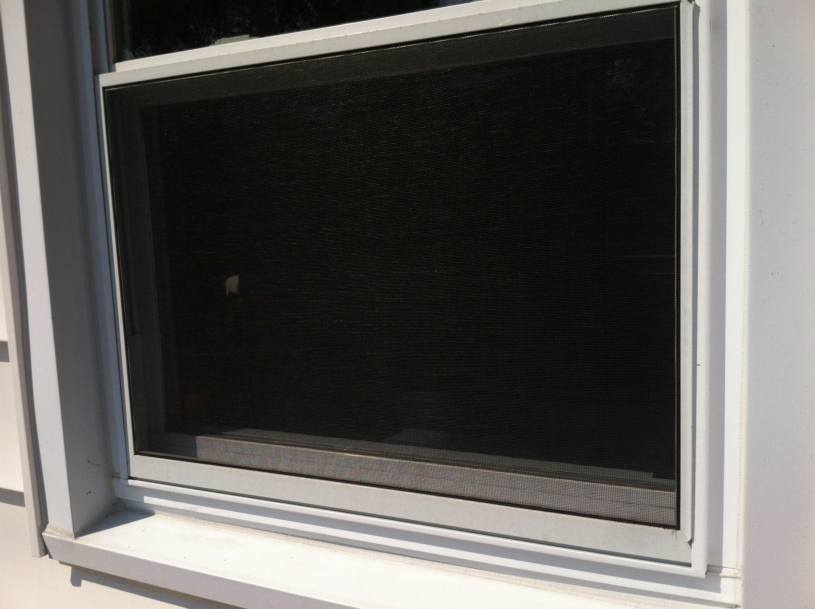 Replacing window screens abode no 9 for Window screen replacement