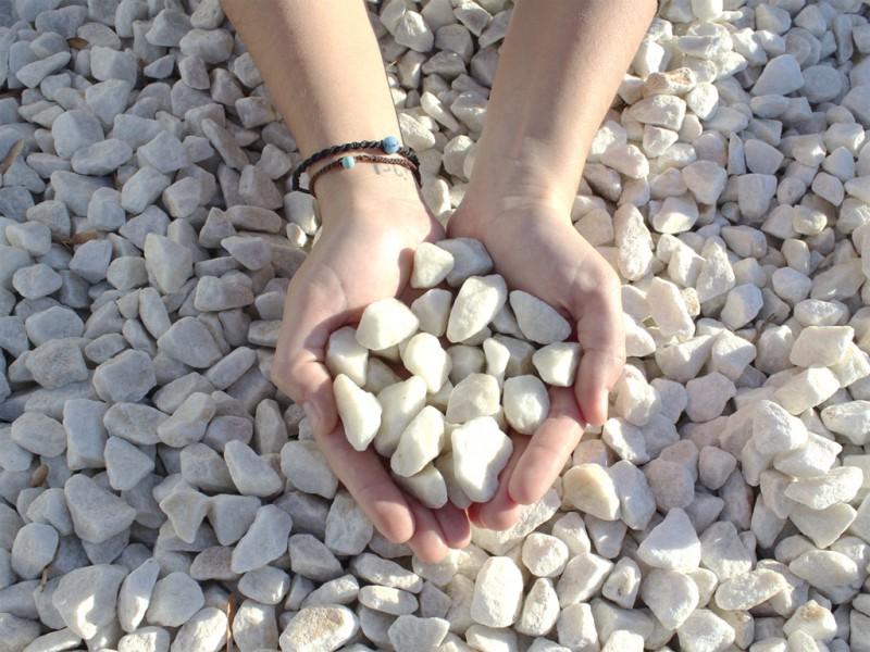 marmolina triturada blanca