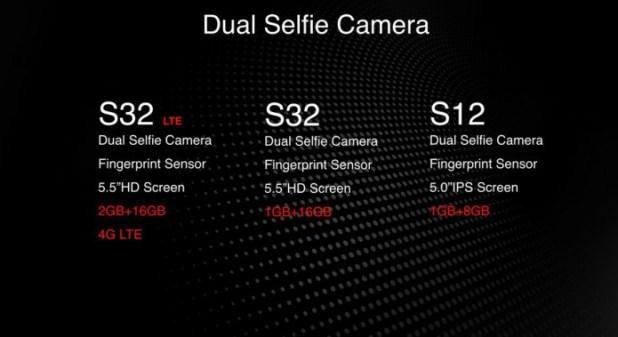 Caractéristique itel S12, de l'itel S32 et de l'itel S32 LTE