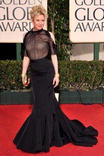 Renee Zellweger en la alfombra roja de los Golden Globes 2009