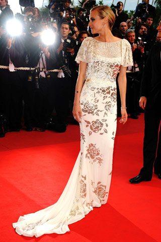 Diane Kruger en Marchesa en la alfombra roja del Festival de Cannes 2009