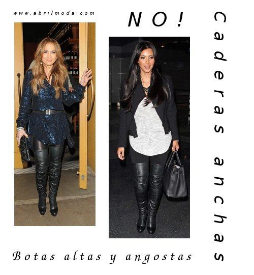 Consejos de moda en blog ABRIL Moda. No te lo pongas: botas dentro del pantalón, si tenés caderas anchas