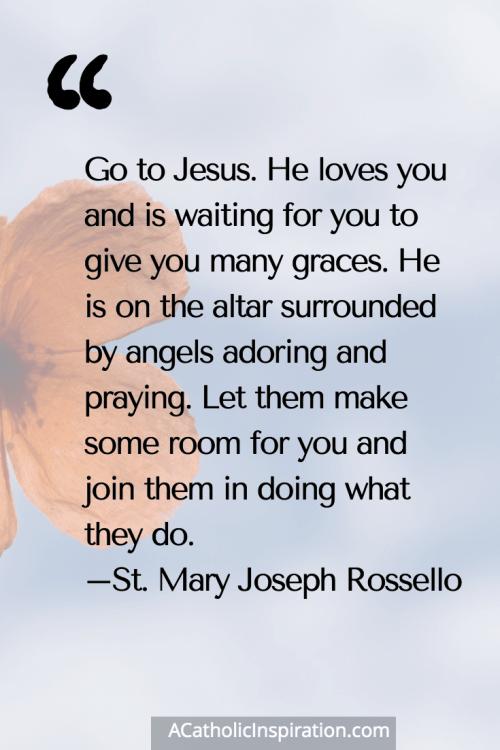 St. Mary Joseph Rossello Quote