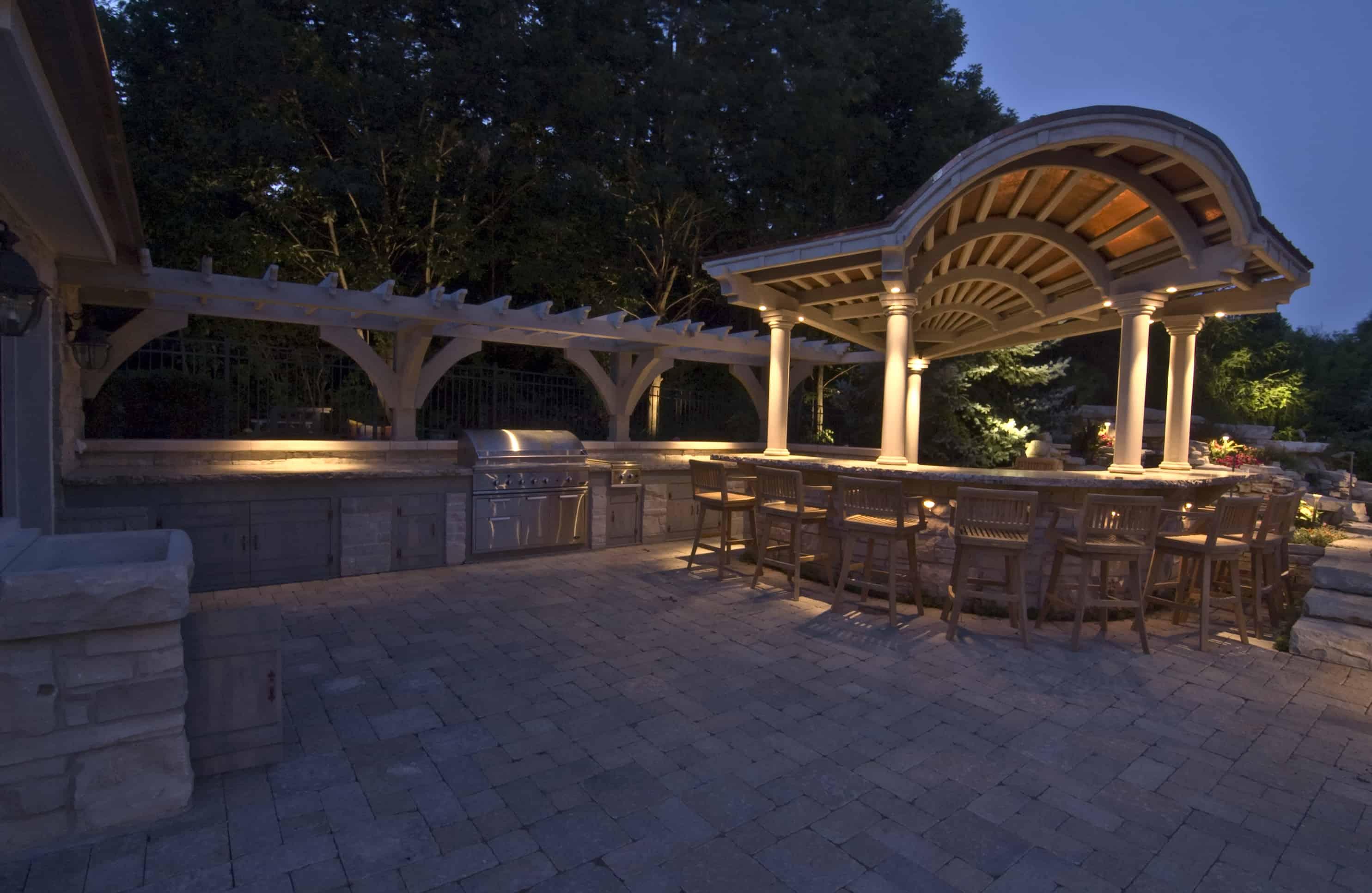 kitchen bars and grills outdoor kitchen lighting Lemont Outdoor Kitchen Lighting