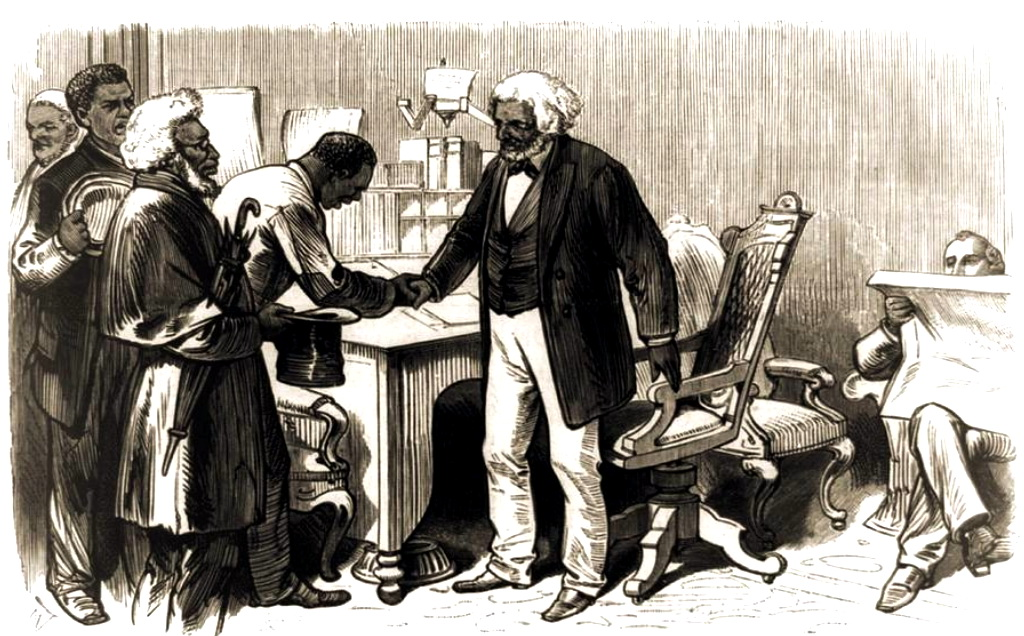 Frederick_Douglass_greeting_African_Americans