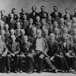 Sherman with Union Veterans 1888