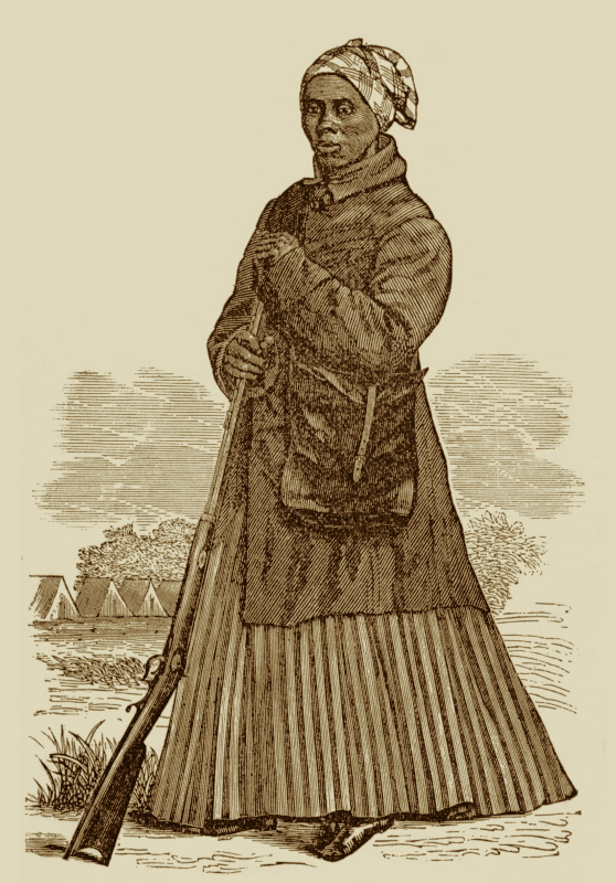 Harriet Tubman in her Scout Garb