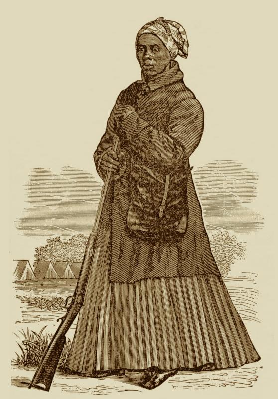 Harriet Tubman in her Scout Garb