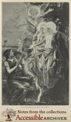 Jeanne d'Arc Meeting the Spirits by D. Maillart