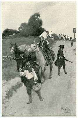 Tory Refugees on the Way to Canada by Howard Pyle