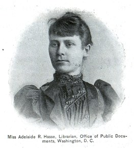 Miss Adelaide R. Hass, Librarian, Office of Public Documents, Washington D.C.