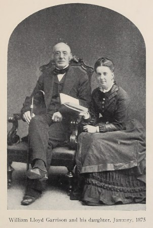 William Lloyd Garrison and his daughter, January 1875