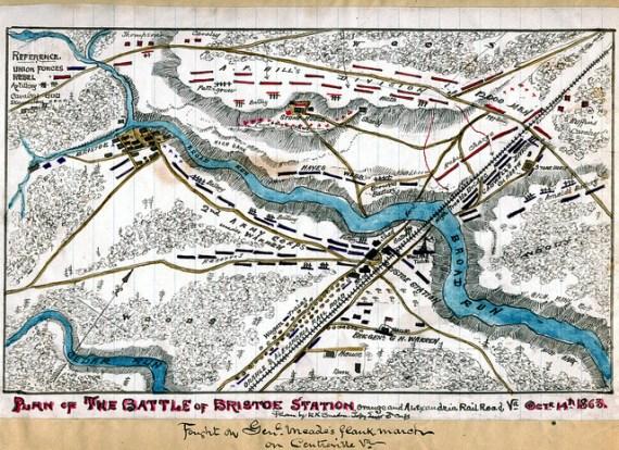 Plan of the Battle of Bristoe Station, Orange and Alexandria Railroad, Va., Octr. 14th 1863.