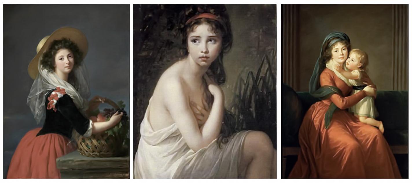 MADAME VIOLET LE BRUN Portraits