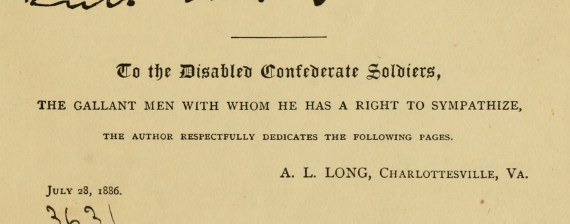 Dedication: Memoirs of Robert E. Lee