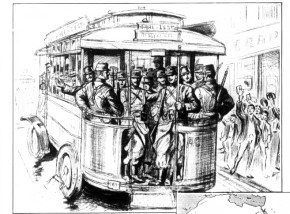 """Going to the Front in Motor Buses"" - Frank Leslie's Weekly, September 10, 1914"