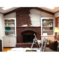 Small Crop Of Whitewash Brick Fireplace
