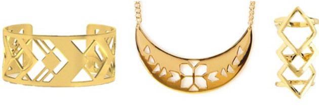 2bbebe, Accessories, Fashion Talk, Forever21, Geometric Cutout Jewelry, Jewelry, Jewelry Crush, Nasty Gal, Tory Burch, Trend Lust