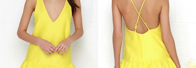 dress, Fashion Talk, FashionFind, fashiontalk, Lulus.com, OOTD, spring, Style, Yellow, yellowdropwaistdress