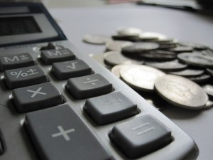 Calculator and Money Image