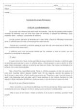 Avaliação de Língua Portuguesa (Interpretação de texto) - 5º Ano