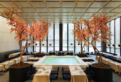 The Four Seasons restaurant Pool Room