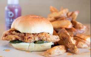 The chicken sandwich from Fuku
