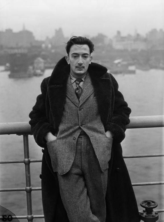 Dali Arriving in New York